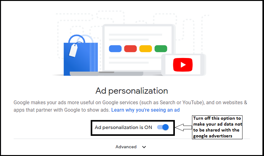 How to delete google advertisers knows about you