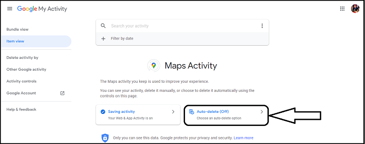 How to delete location history in google