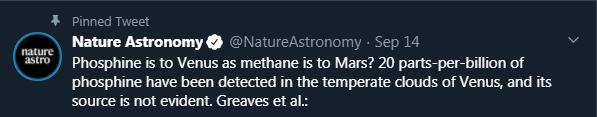 Phosphine is to Venus as methane is to Mars