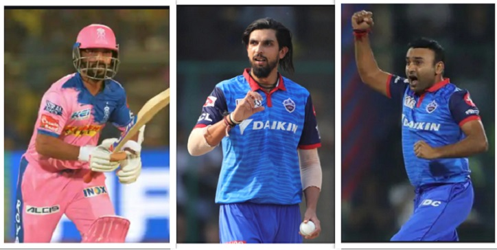 DC playing 11 for CSK vs DC in IPL 2020