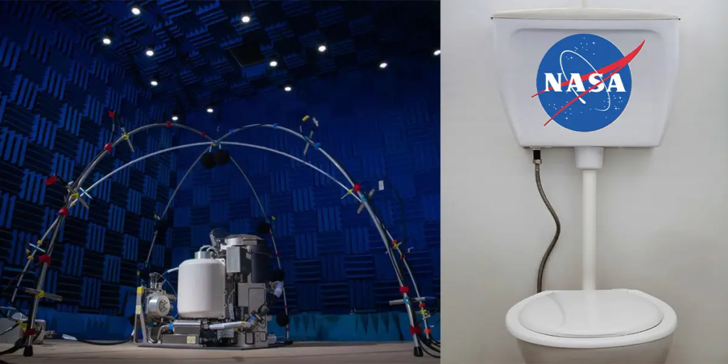 A new space toilet has been developed by NASA for $ 23 million