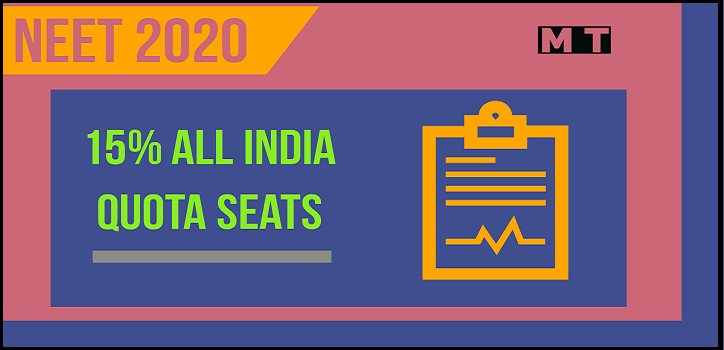 15% All India Quota seats NEET counselling