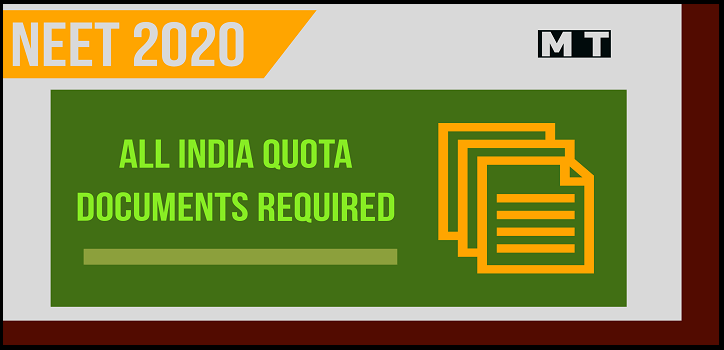 Documents required for NEET counselling