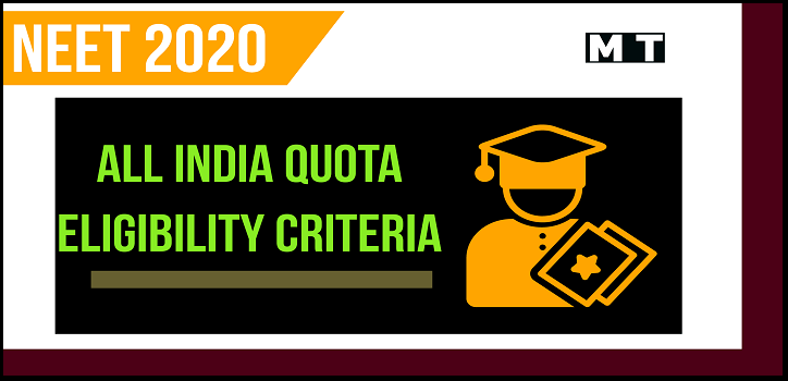 Eligibility criteria for NEET counselling