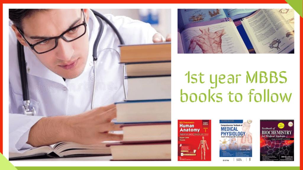 1st year MBBS books