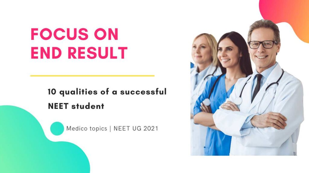 Focus on end result Quality of successful student
